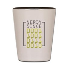 Nerdy Since 1972 Shot Glass