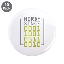 """Nerdy Since 1972 3.5"""" Button (10 pack)"""
