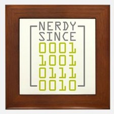 Nerdy Since 1972 Framed Tile