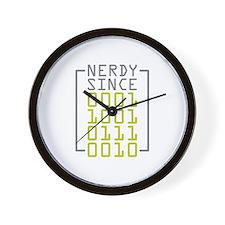 Nerdy Since 1972 Wall Clock