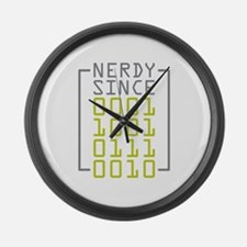 Nerdy Since 1972 Large Wall Clock