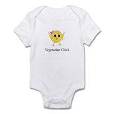 Vegetarian Chick Infant Bodysuit