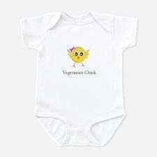 Vegetarian Chick Infant Bodysuit