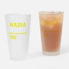 Funny Nadia Drinking Glass