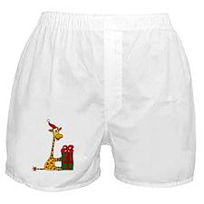 Christmas Giraffe Boxer Shorts