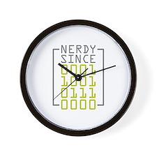 Nerdy Since 1970 Wall Clock