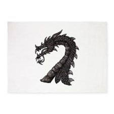 Black Dragon's Head 5'x7'Area Rug