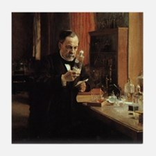 louis pasteur Tile Coaster