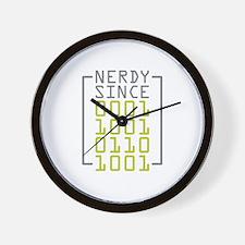 Nerdy Since 1969 Wall Clock