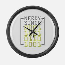 Nerdy Since 1969 Large Wall Clock