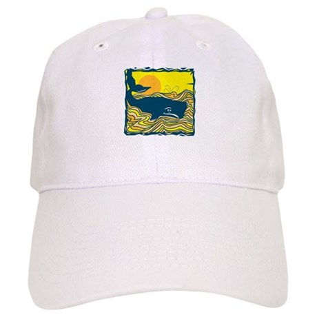 Swimming in Waves Whale Design Cap