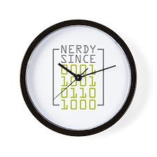 Nerdy Since 1968 Wall Clock