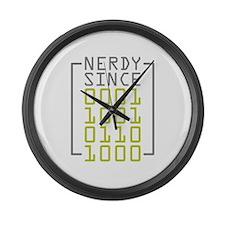 Nerdy Since 1968 Large Wall Clock