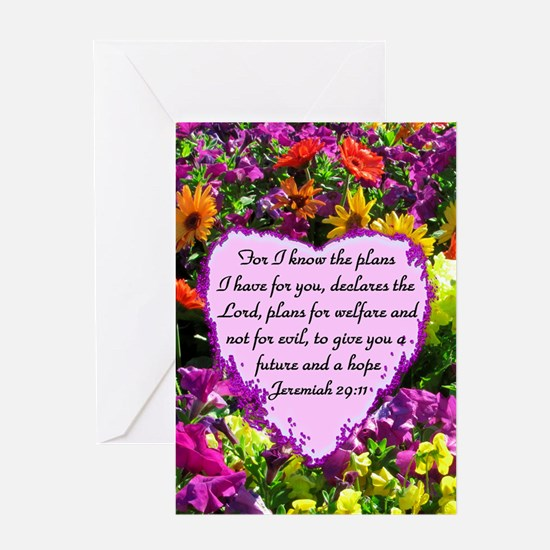 JEREMIAH 29:11 Greeting Card