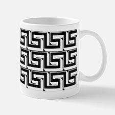 Elegant Greek Key Black Pattern Mug