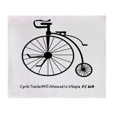 Bicycle Tracks Throw Blanket