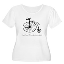 Bicycle Tracks Plus Size T-Shirt