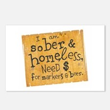 Sober Homeless Postcards (Package of 8)