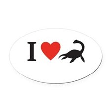 I love nessie! Oval Car Magnet