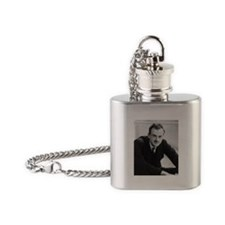 paul dirac Flask Necklace
