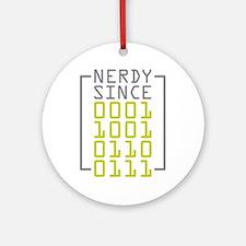 Nerdy Since 1967 Ornament (Round)