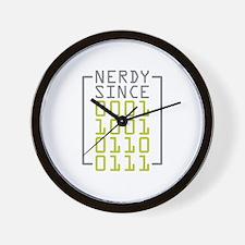 Nerdy Since 1967 Wall Clock