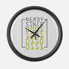 Nerdy Since 1967 Large Wall Clock