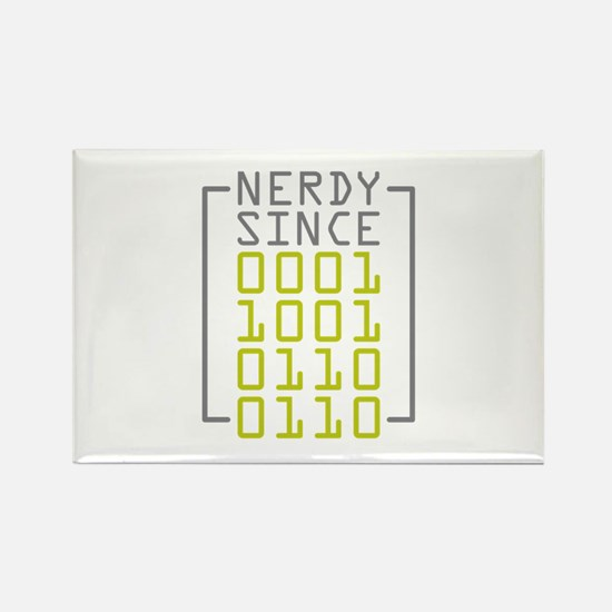 Nerdy Since 1966 Rectangle Magnet