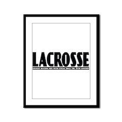 Lacrosse Beating People Framed Panel Print