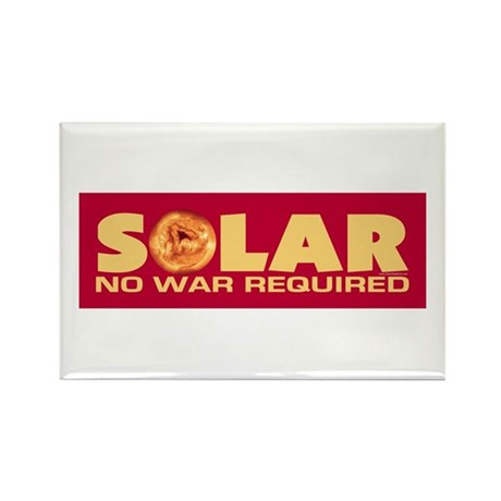 Solar - No War Required Rectangle Magnet (10 pack)