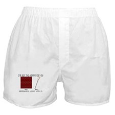 Lacrosse 2 Words Boxer Shorts