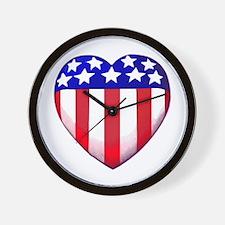 MY AMERICAN HEART Wall Clock