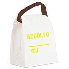 Funny Rodolfo Canvas Lunch Bag