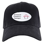 Christmas Flamingos Black Cap