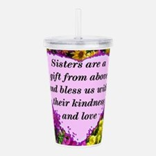 SISTER BLESSING Acrylic Double-wall Tumbler