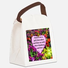 SISTER BLESSING Canvas Lunch Bag