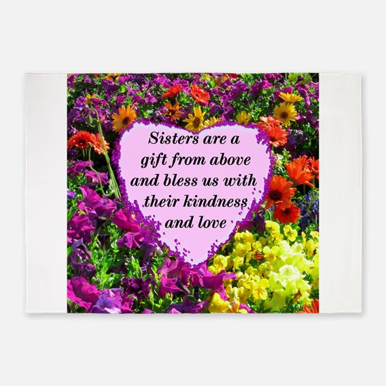 SISTER BLESSING 5'x7'Area Rug