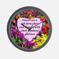 SISTER BLESSING Wall Clock