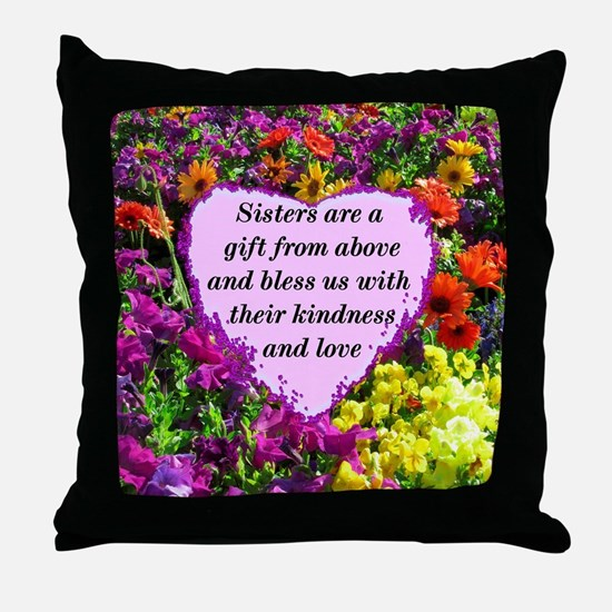SISTER BLESSING Throw Pillow