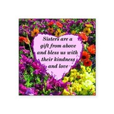 """SISTER BLESSING Square Sticker 3"""" x 3"""""""