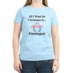 Christmas Flamingos Women's Light T-Shirt
