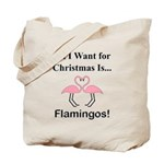 Christmas Flamingos Tote Bag
