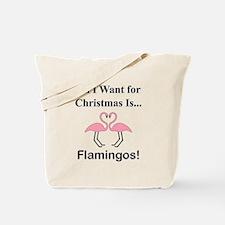 Christmas Flamingos Tote Bag