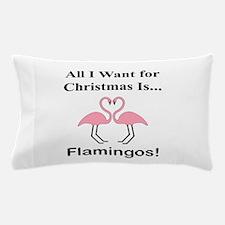 Christmas Flamingos Pillow Case