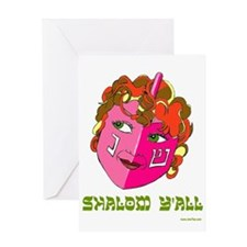 Shalom Y'all Dreidel Greeting Card