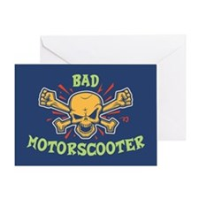 Bad Motorscooter Greeting Card