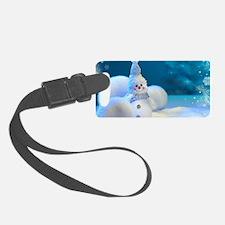 Christmas Snowman Luggage Tag