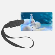 Christmas Snowman Luggage Tag