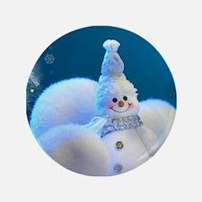 "Christmas Snowman 3.5"" Button (100 pack)"