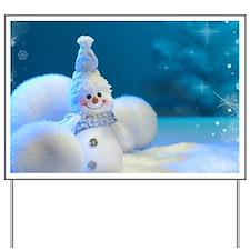 Christmas Snowman Yard Sign
